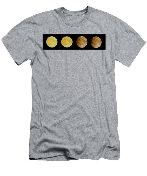 Lunar Eclipse Progression Men's T-Shirt (Athletic Fit)