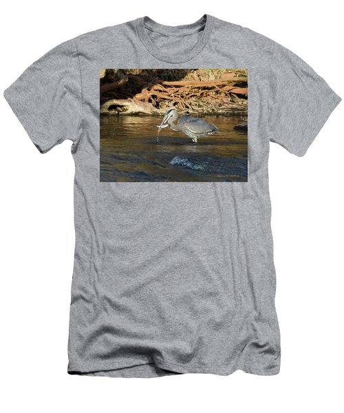 Men's T-Shirt (Slim Fit) featuring the photograph Lunch On The Neuse River by George Randy Bass