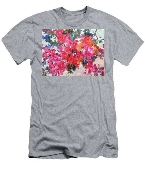 Men's T-Shirt (Athletic Fit) featuring the painting Luscious Bougainvillea by Michelle Abrams