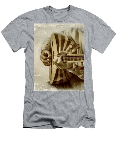 Grey Lutenist Men's T-Shirt (Athletic Fit)