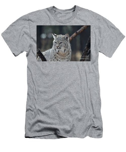 Lynx With A Very Unhappy Face Men's T-Shirt (Athletic Fit)