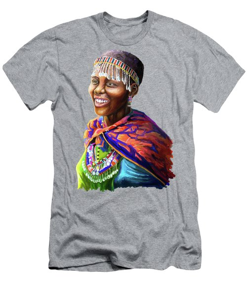 Maasai Girl Men's T-Shirt (Athletic Fit)