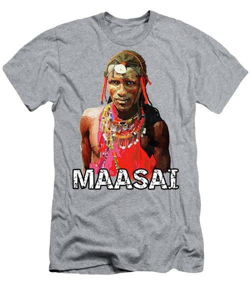 Maasai Moran Men's T-Shirt (Slim Fit) by Anthony Mwangi