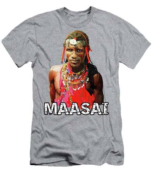 Maasai Moran Men's T-Shirt (Athletic Fit)