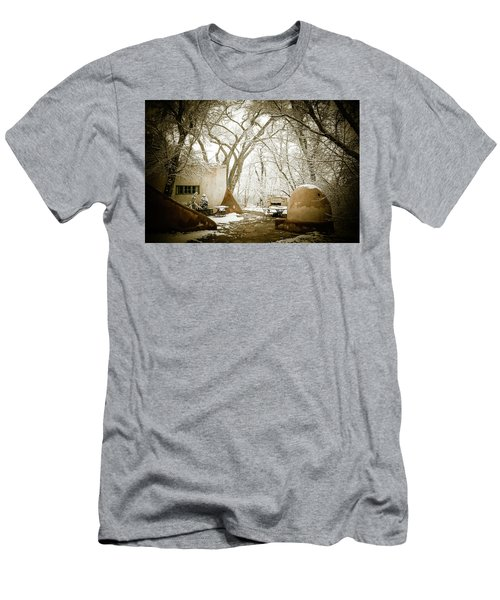 Men's T-Shirt (Slim Fit) featuring the photograph Mabel Luhan Dodge Home Exterior by Marilyn Hunt