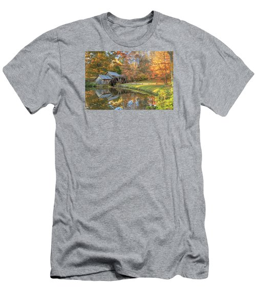 Men's T-Shirt (Slim Fit) featuring the photograph Mabry Mill. Blue Ridge Parkway by Doug McPherson
