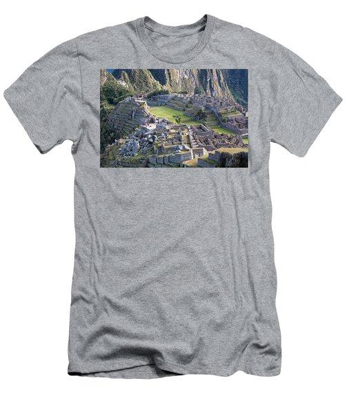 Machu Picchu Inca Ruins Men's T-Shirt (Athletic Fit)
