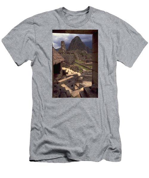 Machu Picchu Men's T-Shirt (Slim Fit) by Travel Pics