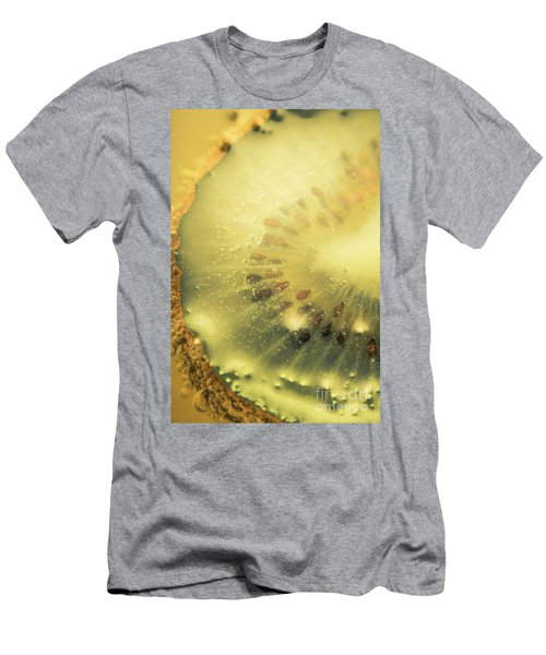 Macro Shot Of Submerged Kiwi Fruit Men's T-Shirt (Slim Fit) by Jorgo Photography - Wall Art Gallery