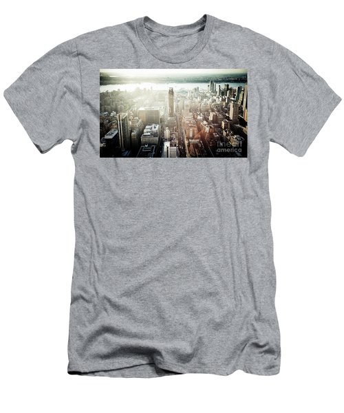 Sunset At Macy's Men's T-Shirt (Athletic Fit)