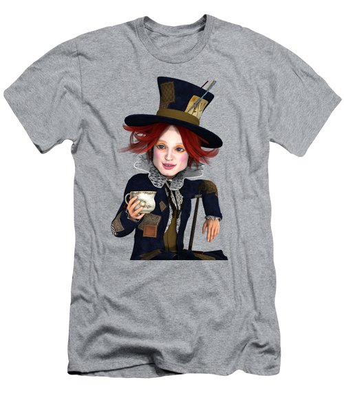 Men's T-Shirt (Slim Fit) featuring the painting Mad Hatter Portrait by Methune Hively