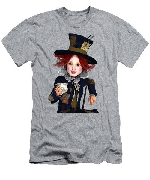 Mad Hatter Portrait Men's T-Shirt (Athletic Fit)