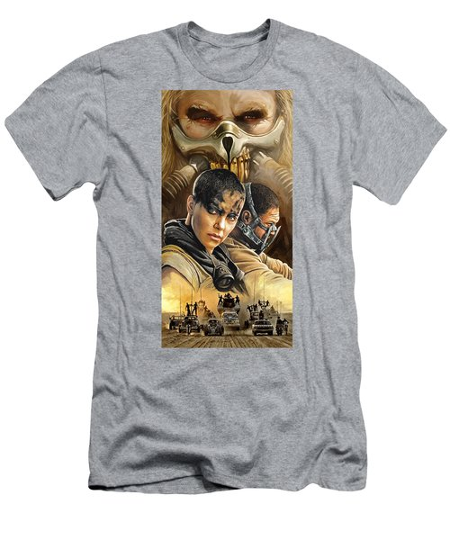 Men's T-Shirt (Slim Fit) featuring the painting Mad Max Fury Road Artwork by Sheraz A