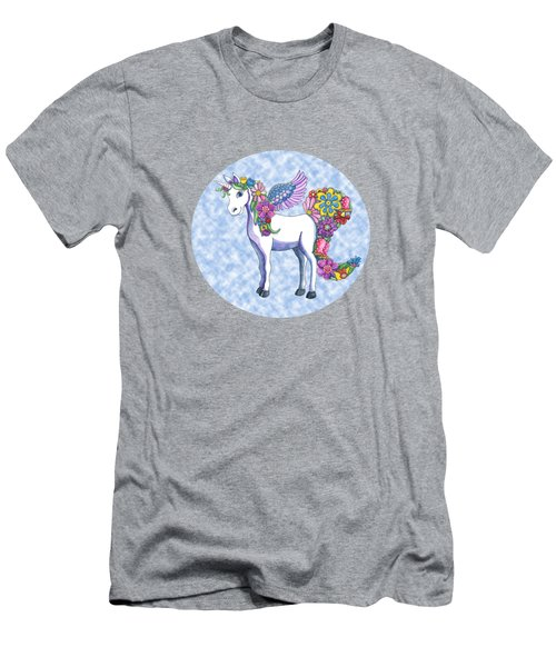 Madeline The Magic Unicorn 2 Men's T-Shirt (Slim Fit) by Shelley Wallace Ylst