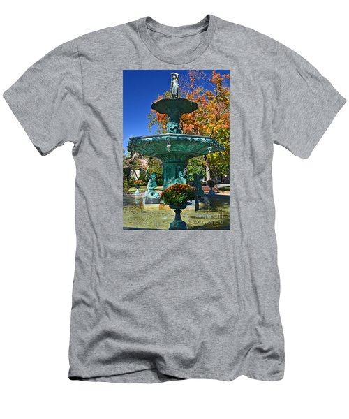 Madison Water Fountain In Fall Men's T-Shirt (Athletic Fit)