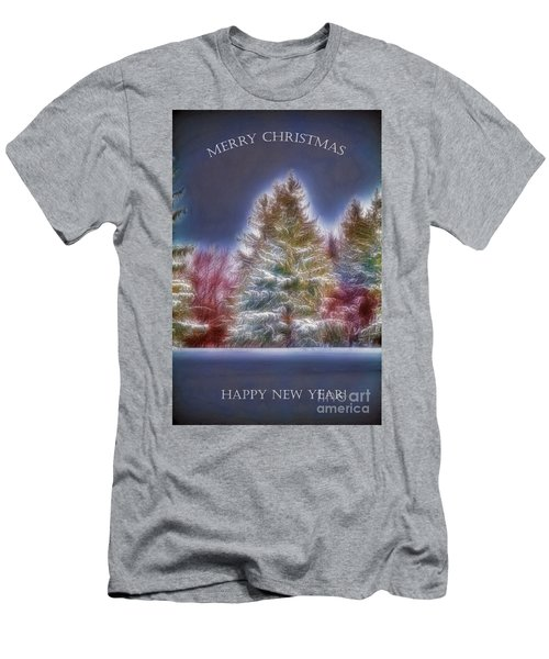 Merrry Christmas And Happy New Year Men's T-Shirt (Slim Fit) by Jim Lepard