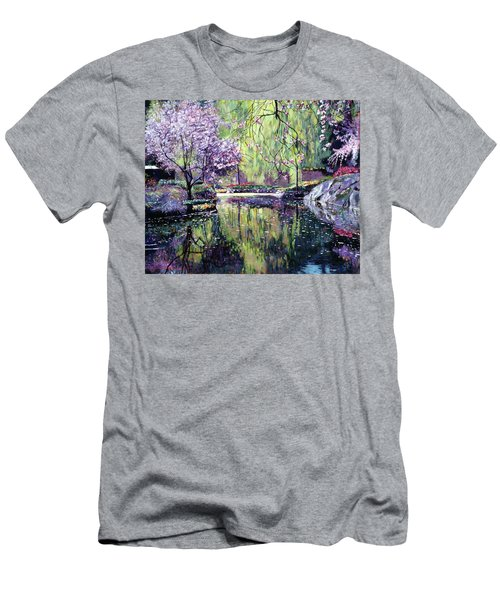 Magnolia Blossoms Men's T-Shirt (Athletic Fit)