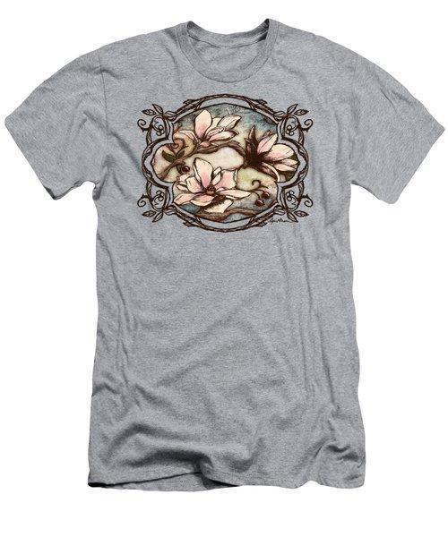 Magnolia Branch II Men's T-Shirt (Slim Fit) by April Moen