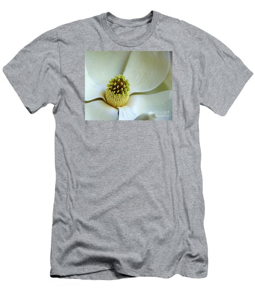 Men's T-Shirt (Slim Fit) featuring the photograph Magnolia Heart by Lisa L Silva