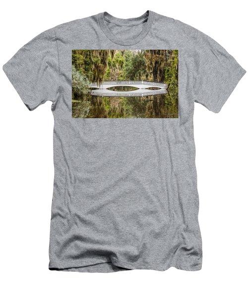 Magnolia Plantation Gardens Bridge Men's T-Shirt (Athletic Fit)