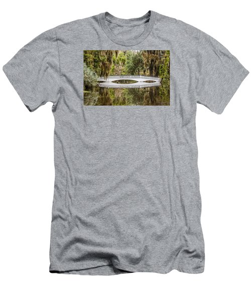 Magnolia Plantation Gardens Bridge Men's T-Shirt (Athletic Fit)