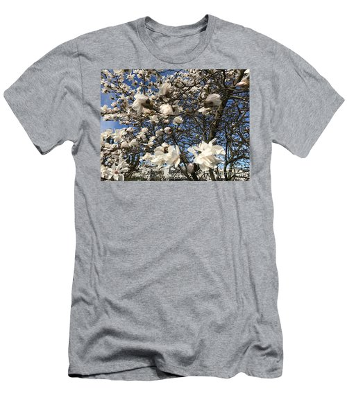 Men's T-Shirt (Slim Fit) featuring the photograph Magnolia Tree In Blossom by Patricia Hofmeester