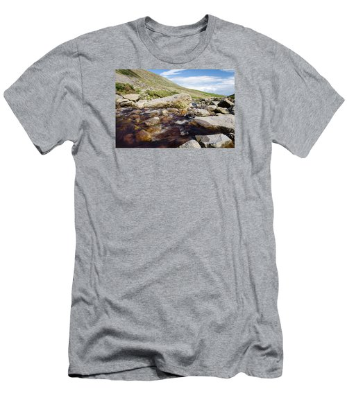 Mahon Falls And River Men's T-Shirt (Slim Fit) by Martina Fagan