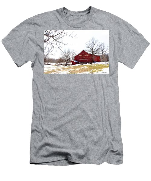 Men's T-Shirt (Athletic Fit) featuring the photograph Mail Pouch Tobacco Barn by Trina Ansel