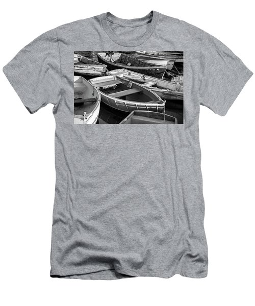 Maine Boats Men's T-Shirt (Slim Fit) by Ranjay Mitra