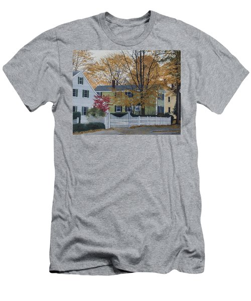Autumn Day On Maine Street, Kennebunkport Men's T-Shirt (Athletic Fit)