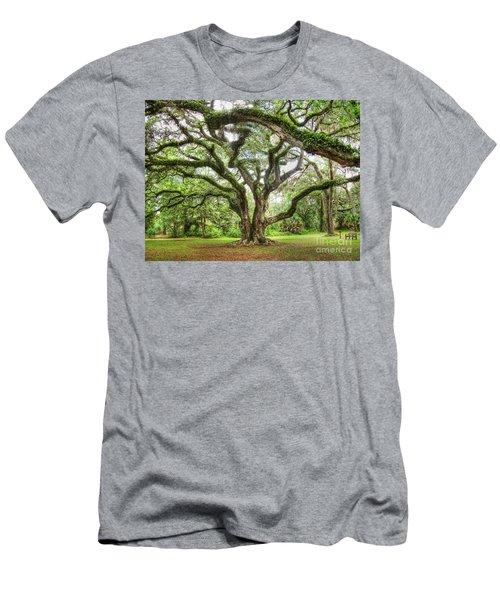 Majestic Oak Men's T-Shirt (Slim Fit) by Myrna Bradshaw