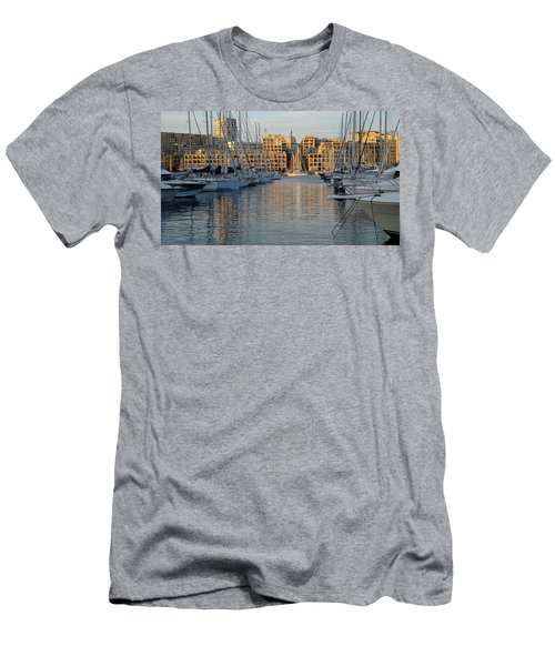 Men's T-Shirt (Athletic Fit) featuring the photograph Majestic Vieux Port by August Timmermans