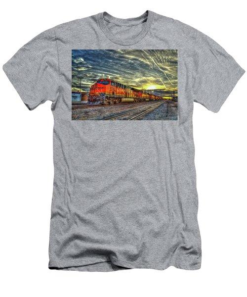 Make Way Resting B N S F Train Gallup New Mexico Art Men's T-Shirt (Athletic Fit)