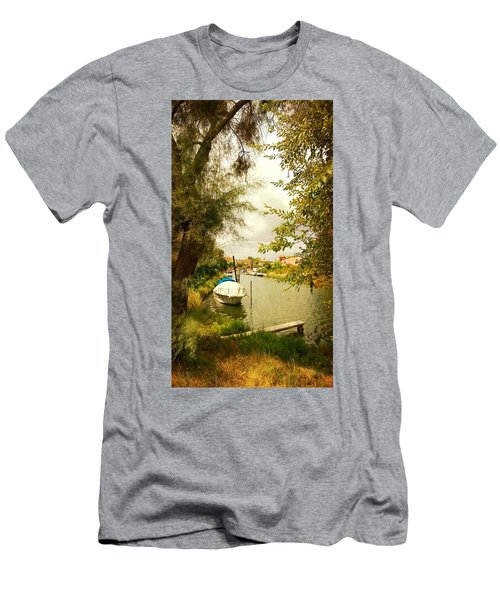 Men's T-Shirt (Slim Fit) featuring the photograph Malamocco Canal No1 by Anne Kotan