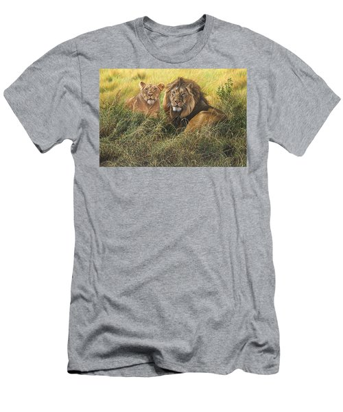 Male And Female Lion Men's T-Shirt (Athletic Fit)
