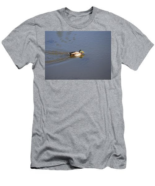 Men's T-Shirt (Athletic Fit) featuring the photograph Mallard Duck Burgess Res Co by Margarethe Binkley