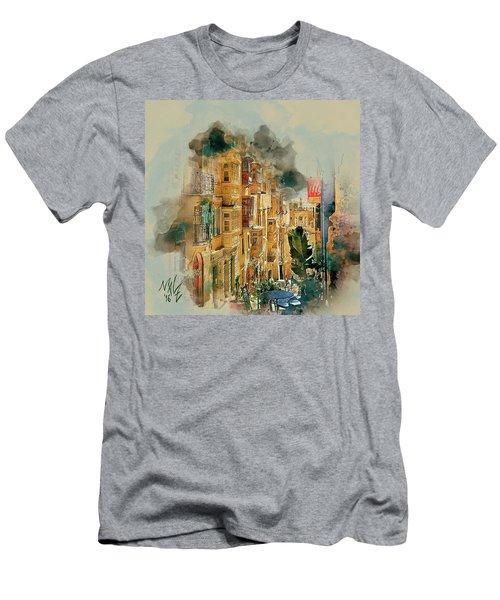 Maltese Street Men's T-Shirt (Athletic Fit)