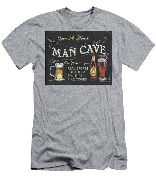 Man Cave Chalkboard Sign Men's T-Shirt (Slim Fit) by Debbie DeWitt