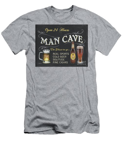 Man Cave Chalkboard Sign Men's T-Shirt (Athletic Fit)