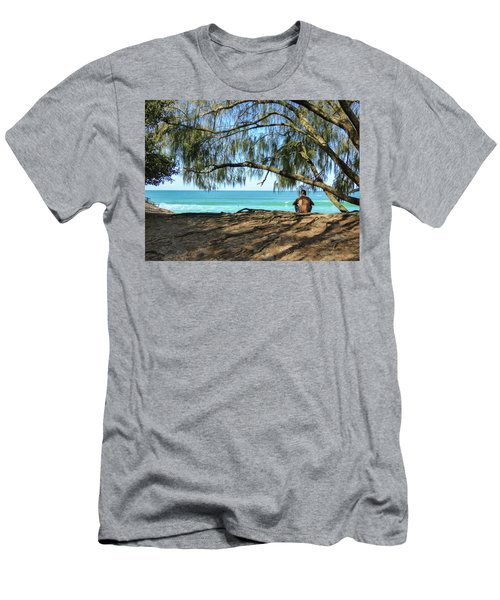 Man Relaxing At The Beach Men's T-Shirt (Athletic Fit)
