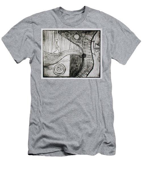 Man Walking Men's T-Shirt (Athletic Fit)