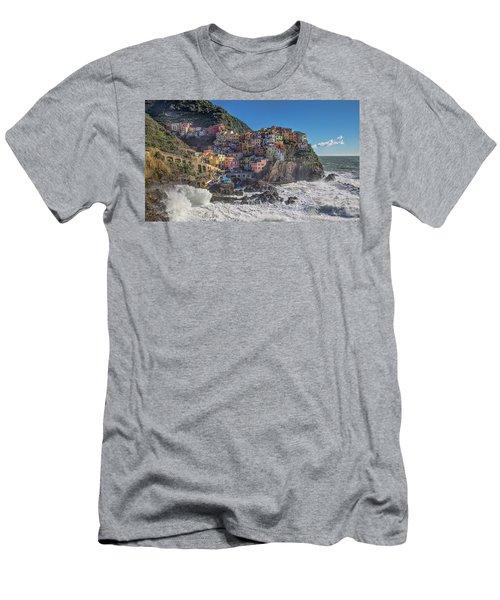 Manarola In Cinque Terre  Men's T-Shirt (Athletic Fit)