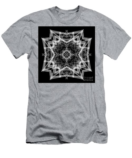 Men's T-Shirt (Athletic Fit) featuring the digital art Mandala 3354b In Black And White by Rafael Salazar