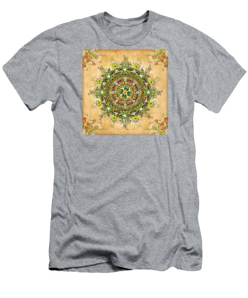 Mandala Flora Men's T-Shirt (Athletic Fit)