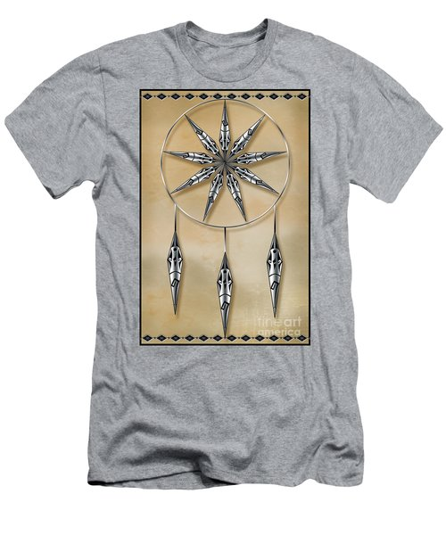 Mandala In Silver Men's T-Shirt (Athletic Fit)