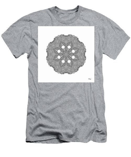 Men's T-Shirt (Slim Fit) featuring the digital art Mandala To Color by Mo T