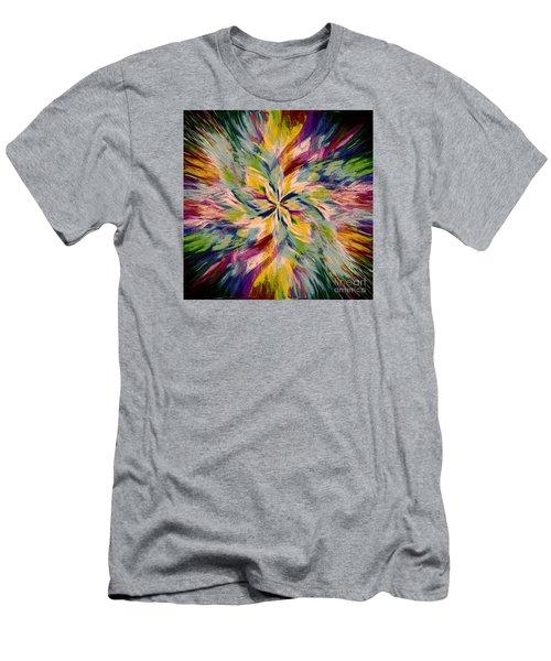 Mandala Twirl 04 Men's T-Shirt (Slim Fit) by Jack Torcello