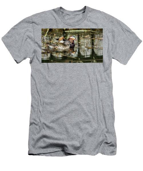 Mandarin Ducks The Couple Men's T-Shirt (Slim Fit) by Torbjorn Swenelius