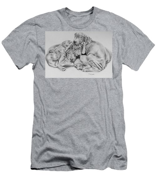 Mango's Pups Men's T-Shirt (Athletic Fit)