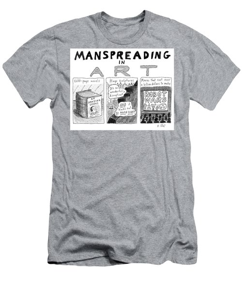 Manspreading In Art Men's T-Shirt (Athletic Fit)